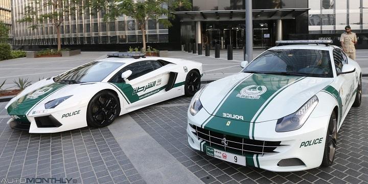 Tokias grožybes vairuoja Dubajaus policininkai